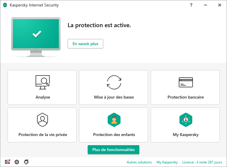 """Résultat de recherche d'images pour """"Kaspersky Internet Security 2019 screenshot"""""""
