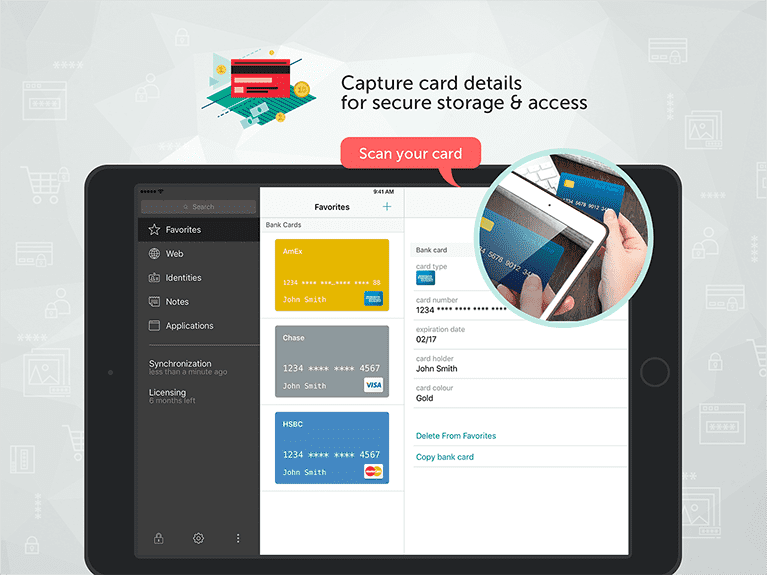 Kaspersky Password Manager Capture Card Details