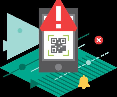 Vous alerte en cas de danger potentiel lié à un code QR