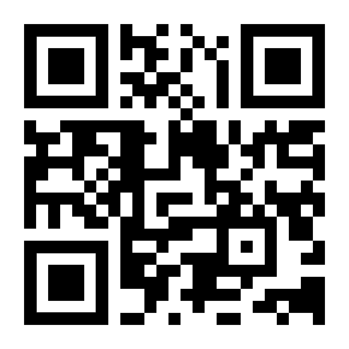 Un code QR menant à kaspersky.fr