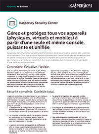 Kaspersky Security Center - Fiche technique