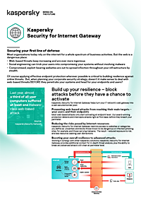 Kaspersky Security for Internet Gateway - Fiche technique