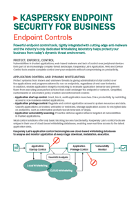 Kaspersky Endpoint Security for Business Control Tools : Fiche produit
