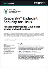 Kaspersky Endpoint Security for Linux – Fiche technique